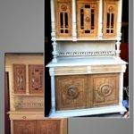 buffet Henri iirelooké à colonnes et vitrine
