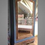 armoire à glace bois et gris