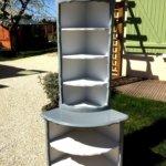 meuble d'angle de face en deux tons