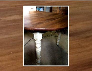 Relooking d'une table ronde en bois