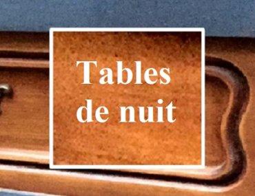 Relooking de tables de nuit en bois