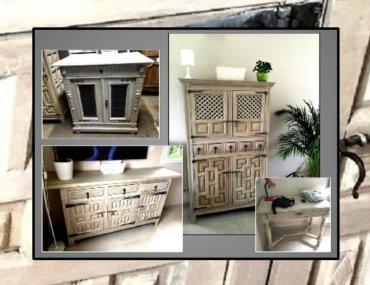 Relooking d'un ensemble de meubles de style renaissance espagnole