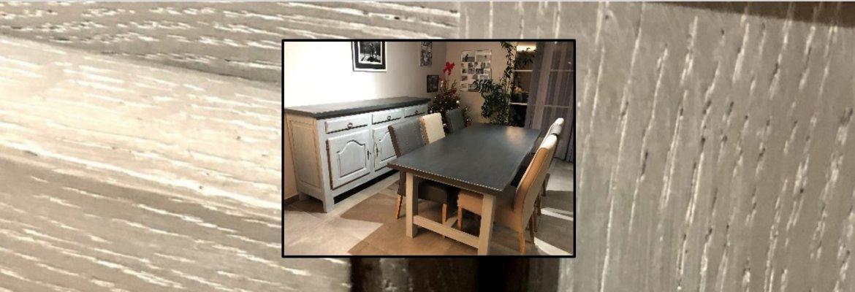 Relooking de meubles de salle à manger : table et buffet relookés