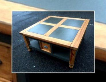 Relooking d'une table basse en bois