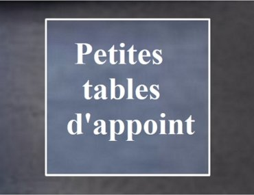 Relooking de tables d'appoint