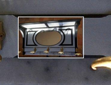 Restauration et relooking d'un portemanteau miroir