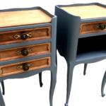 tables de chevet en bois relookées