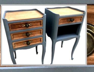 Relooking de tables de chevet en bois