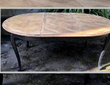 Relooking d'une table en chêne avec rallonges