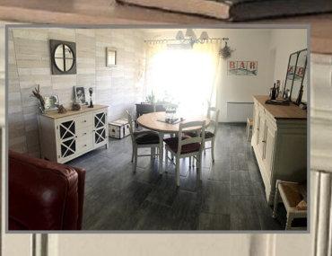 meubles relookés de salle à manger