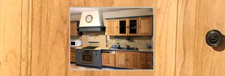 Relooking d'une cuisine en bois et rustique
