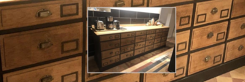 Relooking d'un meuble de métier 24 tiroirs