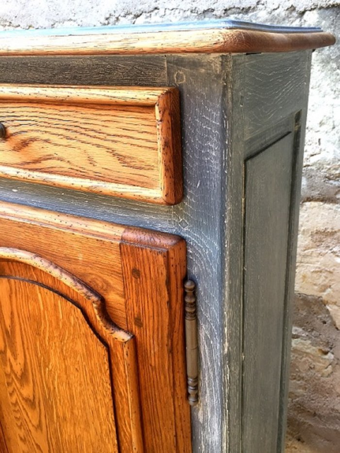exemple de meubles en bois relookés  table de nuit en bois cérusé