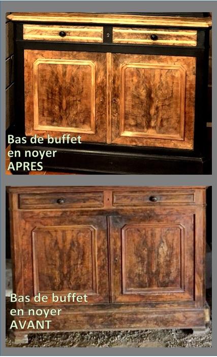 ce buffet deux corps en bois de ronce de noyer fait partie de mes meubles en bois relookés