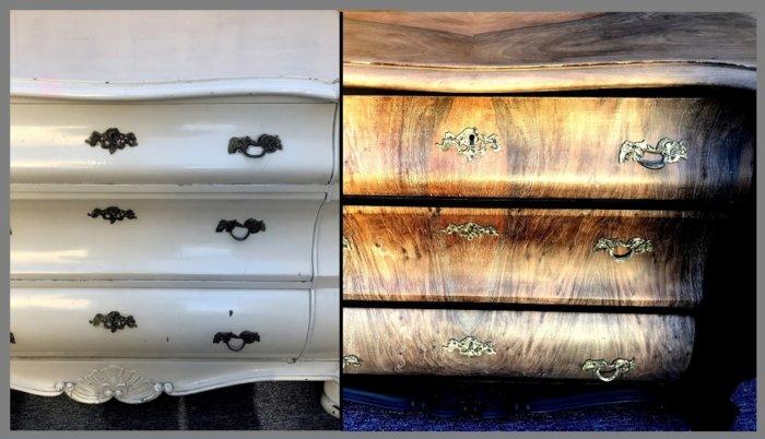 meubles en bois relookés par la technique du sablage