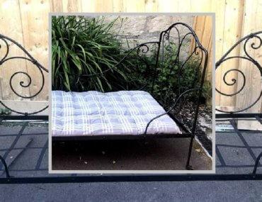 Relooking d'une banquette fer forgé et son futon