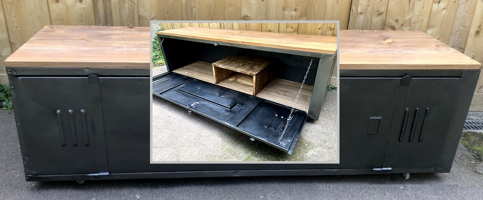 Relooking d'un meuble TV industriel