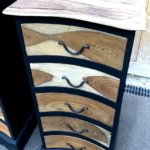 Chiffonniers bois exotique nuance de texture