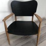 Fauteuil en bois relooké : sablé et noir anthracite