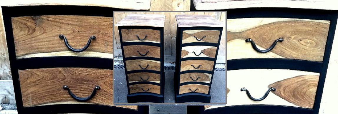 Relooking de chiffonniers en bois exotique