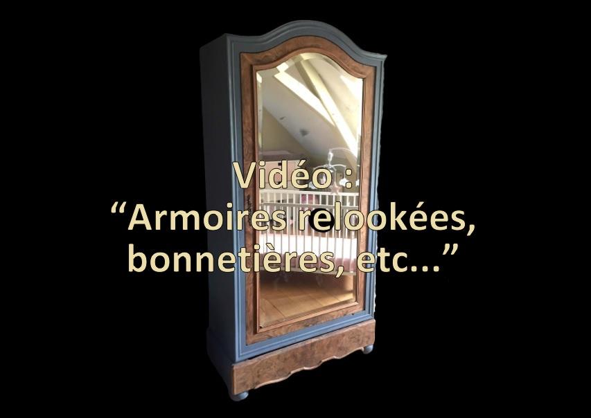 Vidéo de présentation armoires relookées et bonnetières