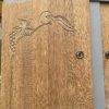 détails sculptures des portes du buffet 2 corps relooké