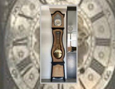 rénovation horloge comtoise avant après
