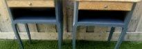 paire de chevet chêne et gris soutenu