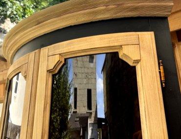 vitrine relookée boit brut et noir anthracite